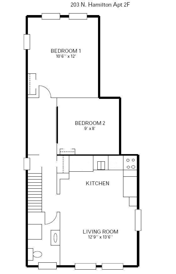 2 Bedrooms 1 Bathroom Apartment for rent at 203 N Hamilton in Madison, WI