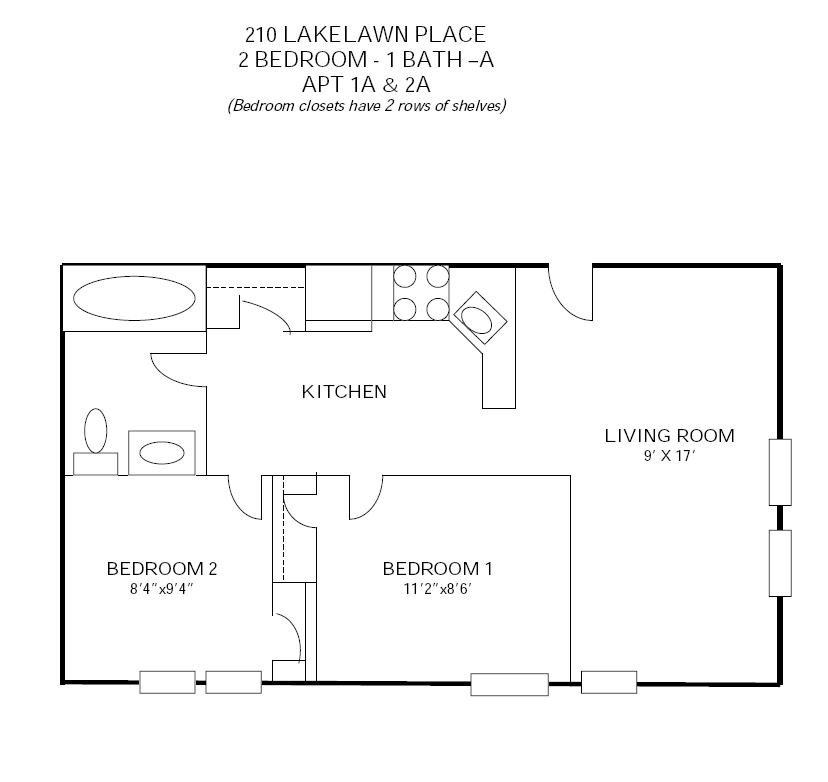 2 Bedrooms 1 Bathroom Apartment for rent at 210 Lakelawn in Madison, WI