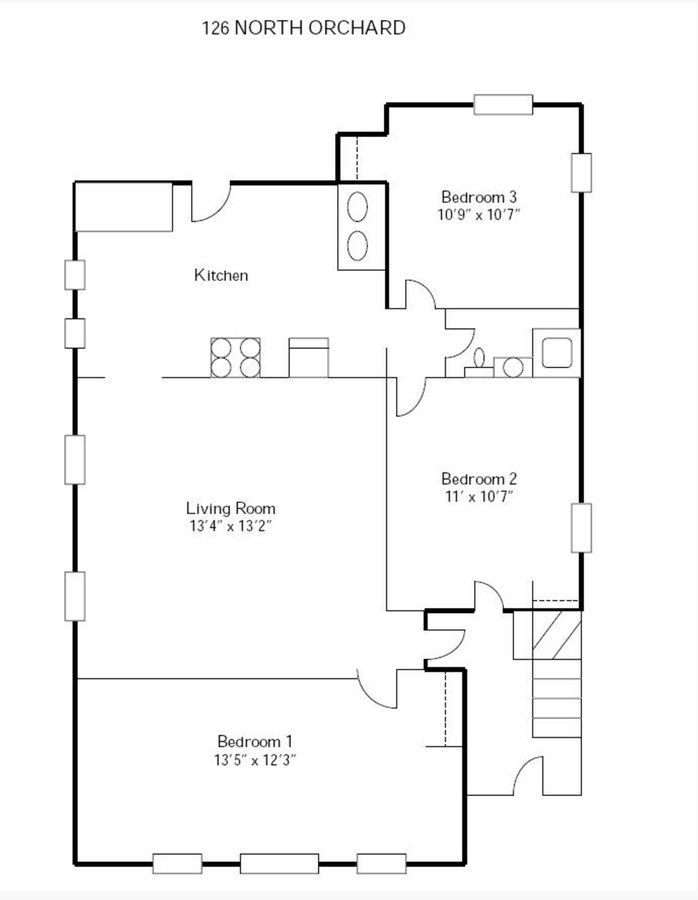 3 Bedrooms 1 Bathroom Apartment for rent at 120-128 N Orchard Street in Madison, WI
