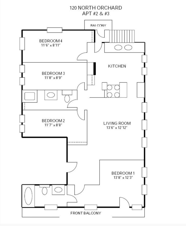 4 Bedrooms 2 Bathrooms Apartment for rent at 120-128 N Orchard Street in Madison, WI