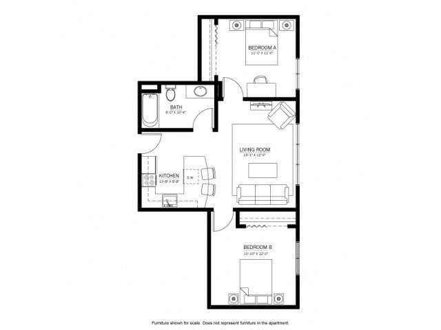 2 Bedrooms 1 Bathroom Apartment for rent at 625 on Langdon in Madison, WI