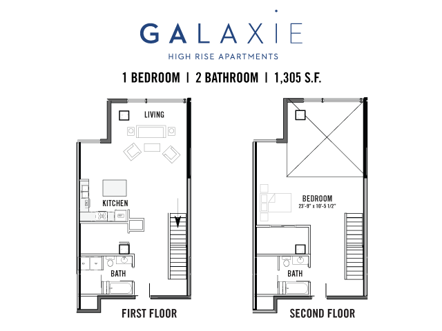 1 Bedroom 2 Bathrooms Apartment for rent at Galaxie in Madison, WI