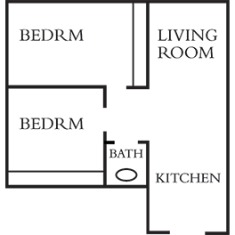 2 Bedrooms 1 Bathroom Apartment for rent at Saxony Apartments in Madison, WI