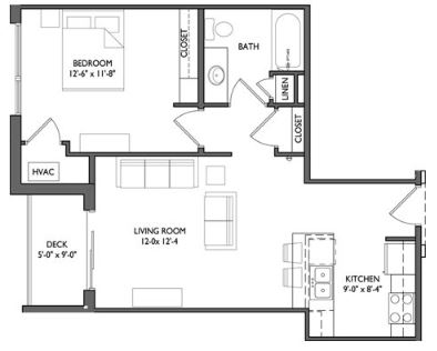 1 Bedroom 1 Bathroom Apartment for rent at Whistler Apartments in Iowa City, IA