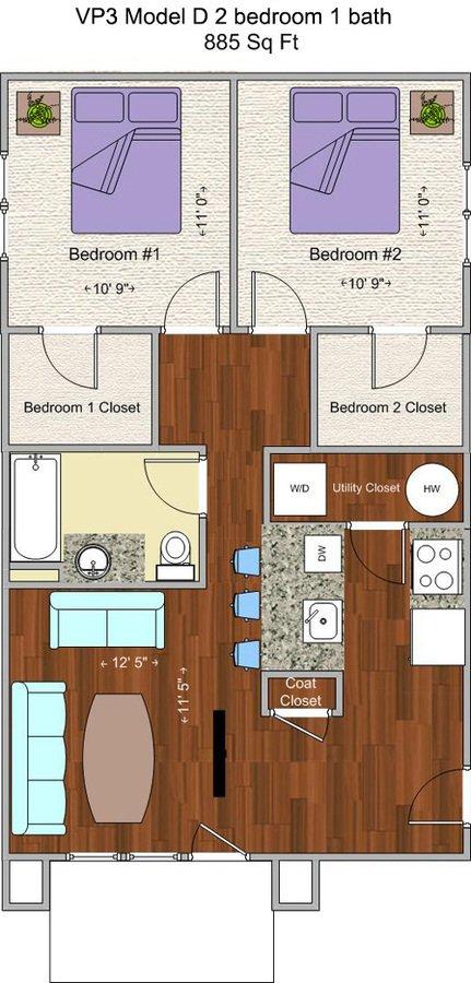 2 Bedrooms 1 Bathroom Apartment for rent at V P 3 in Cincinnati, OH