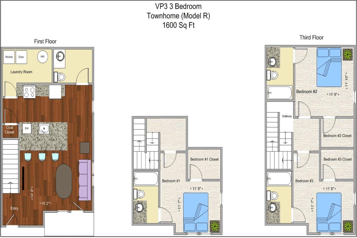3 Bedrooms 4+ Bathrooms Apartment for rent at V P 3 in Cincinnati, OH