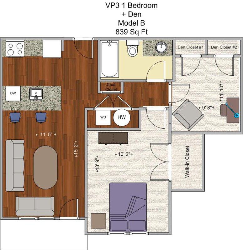 1 Bedroom 1 Bathroom Apartment for rent at V P 3 in Cincinnati, OH