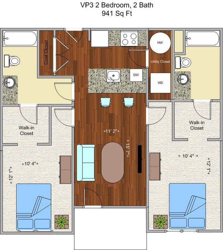 2 Bedrooms 2 Bathrooms Apartment for rent at V P 3 in Cincinnati, OH