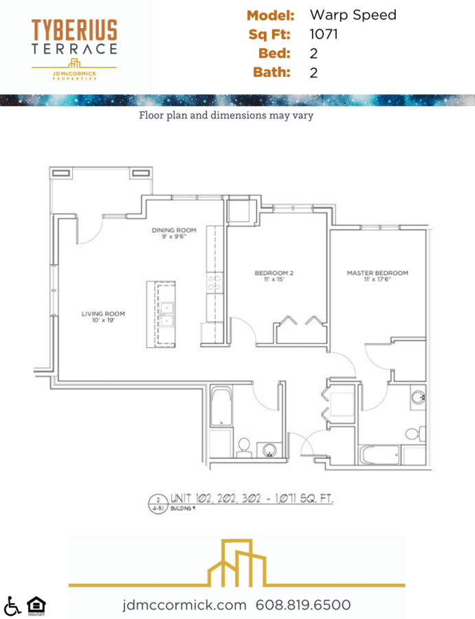 2 Bedrooms 2 Bathrooms Apartment for rent at Tyberius Terrace in Madison, WI