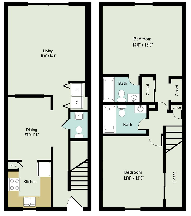 2 Bedrooms 2 Bathrooms Apartment for rent at Lake Castleton Apartment Homes in Indianapolis, IN