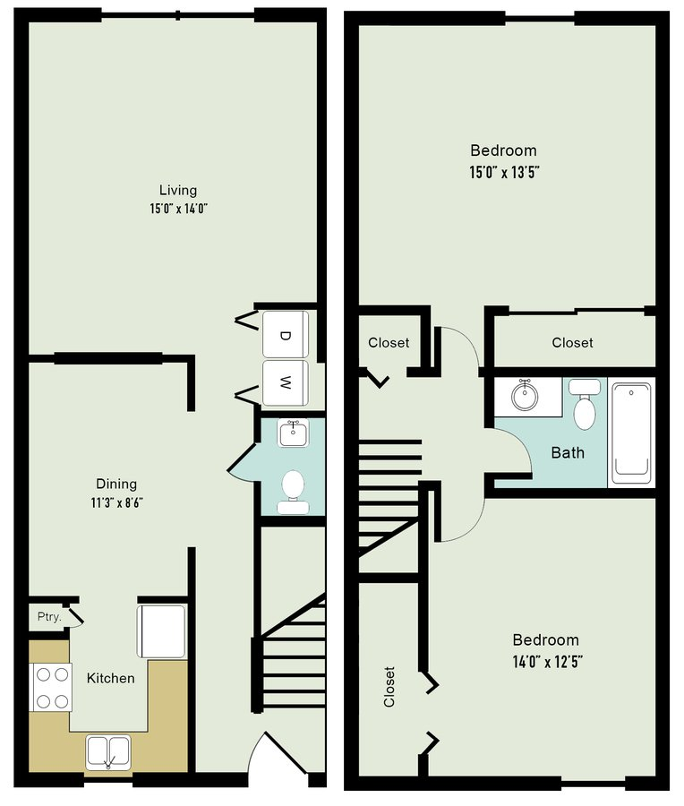 2 Bedrooms 1 Bathroom Apartment for rent at Lake Castleton Apartment Homes in Indianapolis, IN