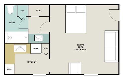 Studio 1 Bathroom Apartment for rent at Lake Castleton Apartment Homes in Indianapolis, IN