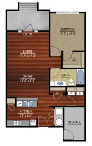 1 Bedroom 1 Bathroom Apartment for rent at East Village at Avondale Meadows Apartments in Indianapolis, IN