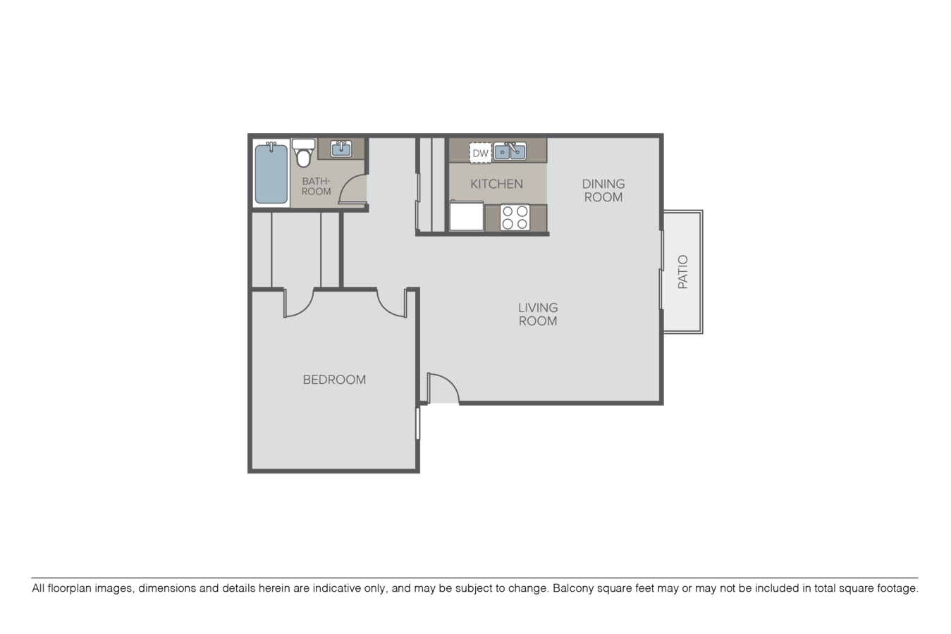 1 Bedroom 1 Bathroom Apartment for rent at Summit Park Village in San Diego, CA