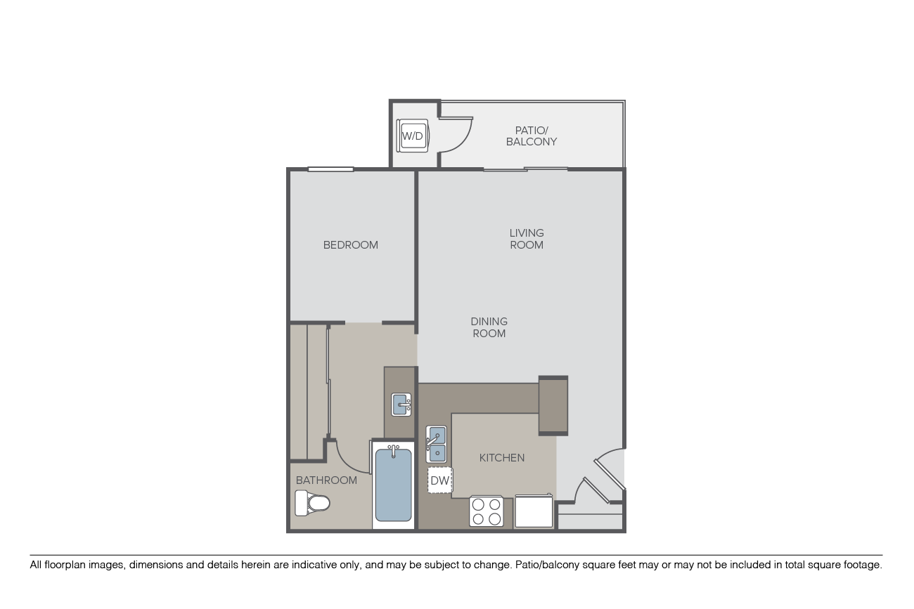 1 Bedroom 1 Bathroom Apartment for rent at Pathways at Bixby Village in Long Beach, CA