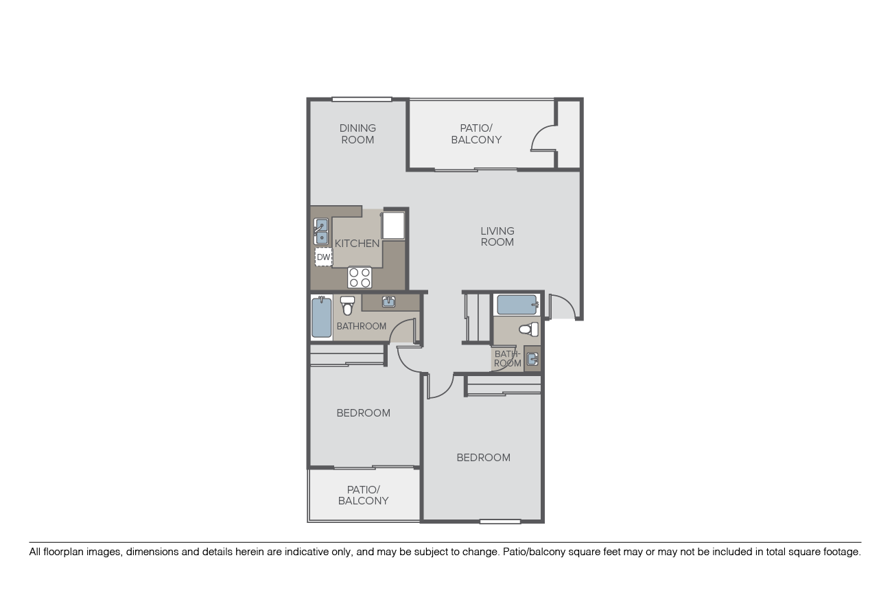 2 Bedrooms 2 Bathrooms Apartment for rent at Pathways at Bixby Village in Long Beach, CA