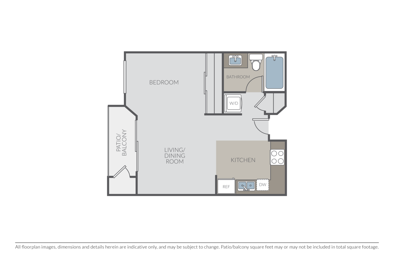 Studio 1 Bathroom Apartment for rent at Marbrisa in Long Beach, CA