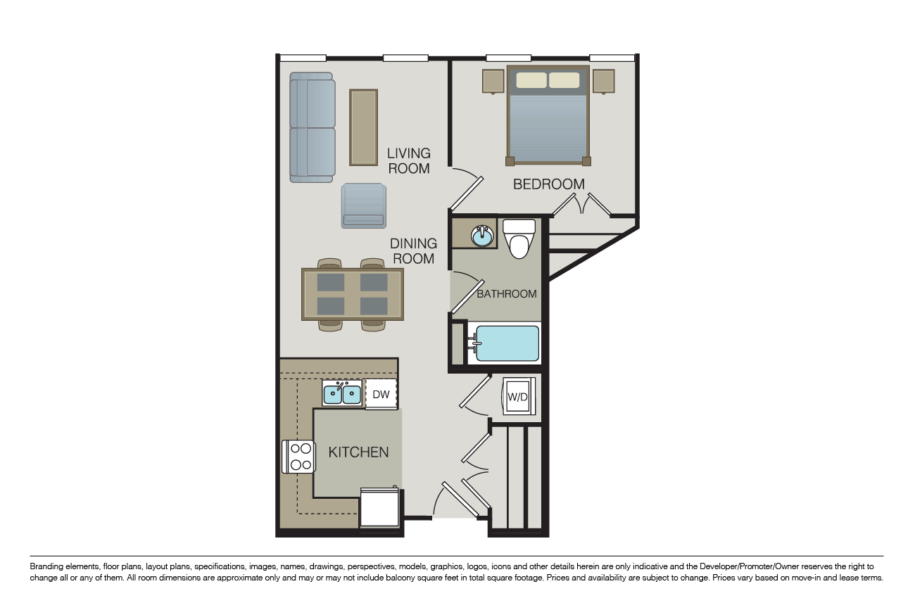 1 Bedroom 1 Bathroom Apartment for rent at Form 15 in San Diego, CA