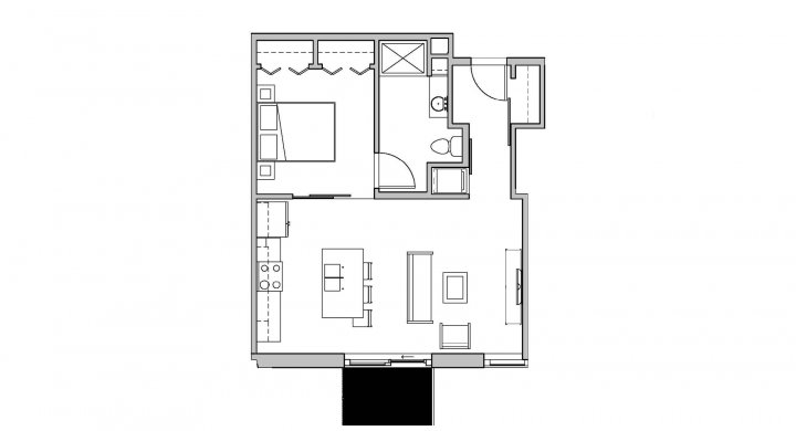 1 Bedroom 1 Bathroom Apartment for rent at SEVEN27 in Madison, WI