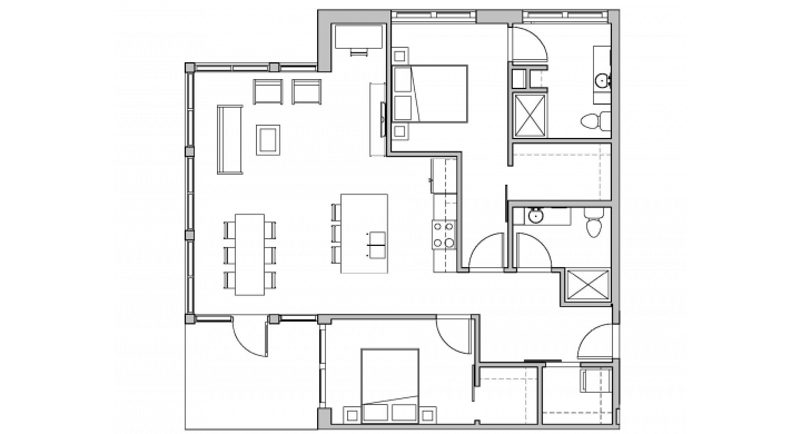 2 Bedrooms 2 Bathrooms Apartment for rent at SEVEN27 in Madison, WI