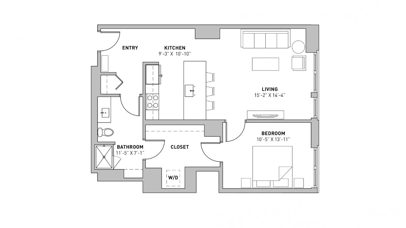 1 Bedroom 1 Bathroom Apartment for rent at The Pressman in Madison, WI
