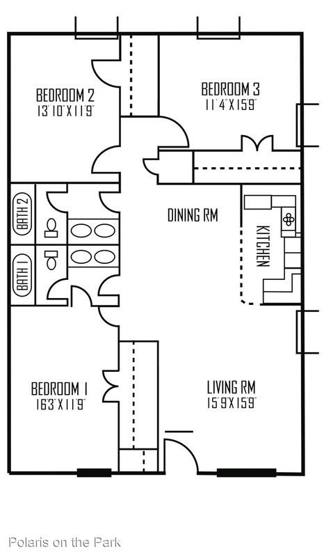 3 Bedrooms 2 Bathrooms Apartment for rent at Polaris On The Park Apartments in Austin, TX