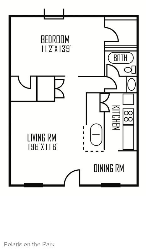 1 Bedroom 1 Bathroom Apartment for rent at Polaris On The Park Apartments in Austin, TX