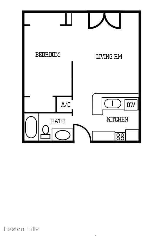 Studio 1 Bathroom Apartment for rent at Easton Hills Apartments in Austin, TX