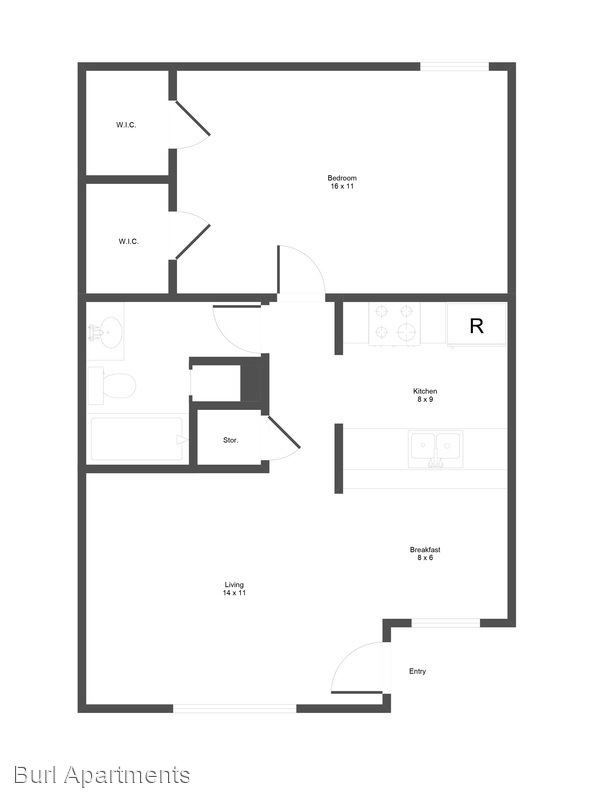 1 Bedroom 1 Bathroom Apartment for rent at Burl South in Austin, TX