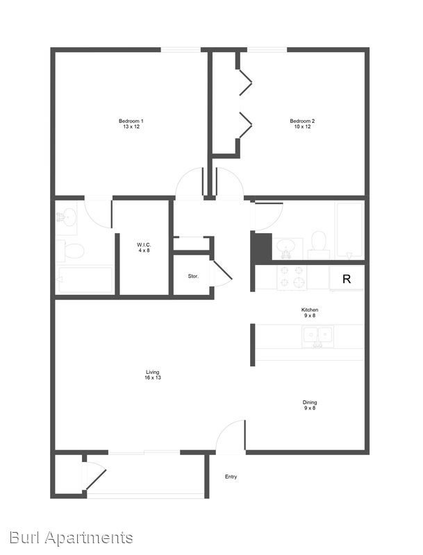 2 Bedrooms 2 Bathrooms Apartment for rent at Burl South in Austin, TX