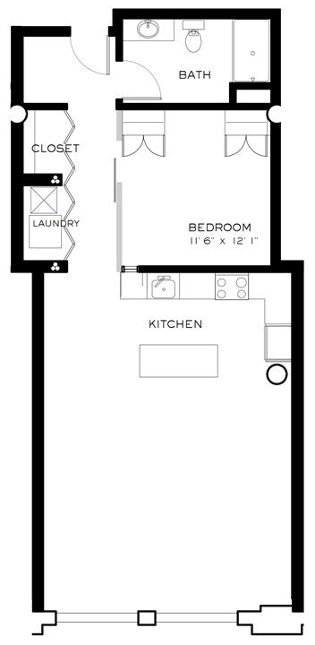 1 Bedroom 1 Bathroom Apartment for rent at Brix Apartment Lofts in Milwaukee, WI