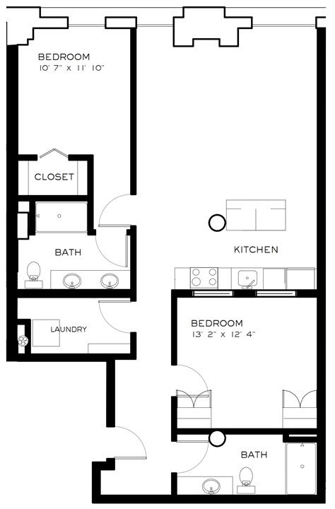 2 Bedrooms 2 Bathrooms Apartment for rent at Brix Apartment Lofts in Milwaukee, WI