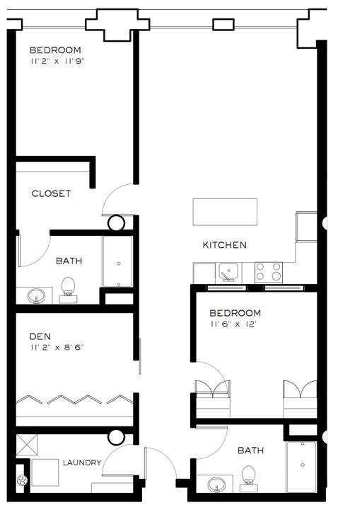 3 Bedrooms 2 Bathrooms Apartment for rent at Brix Apartment Lofts in Milwaukee, WI