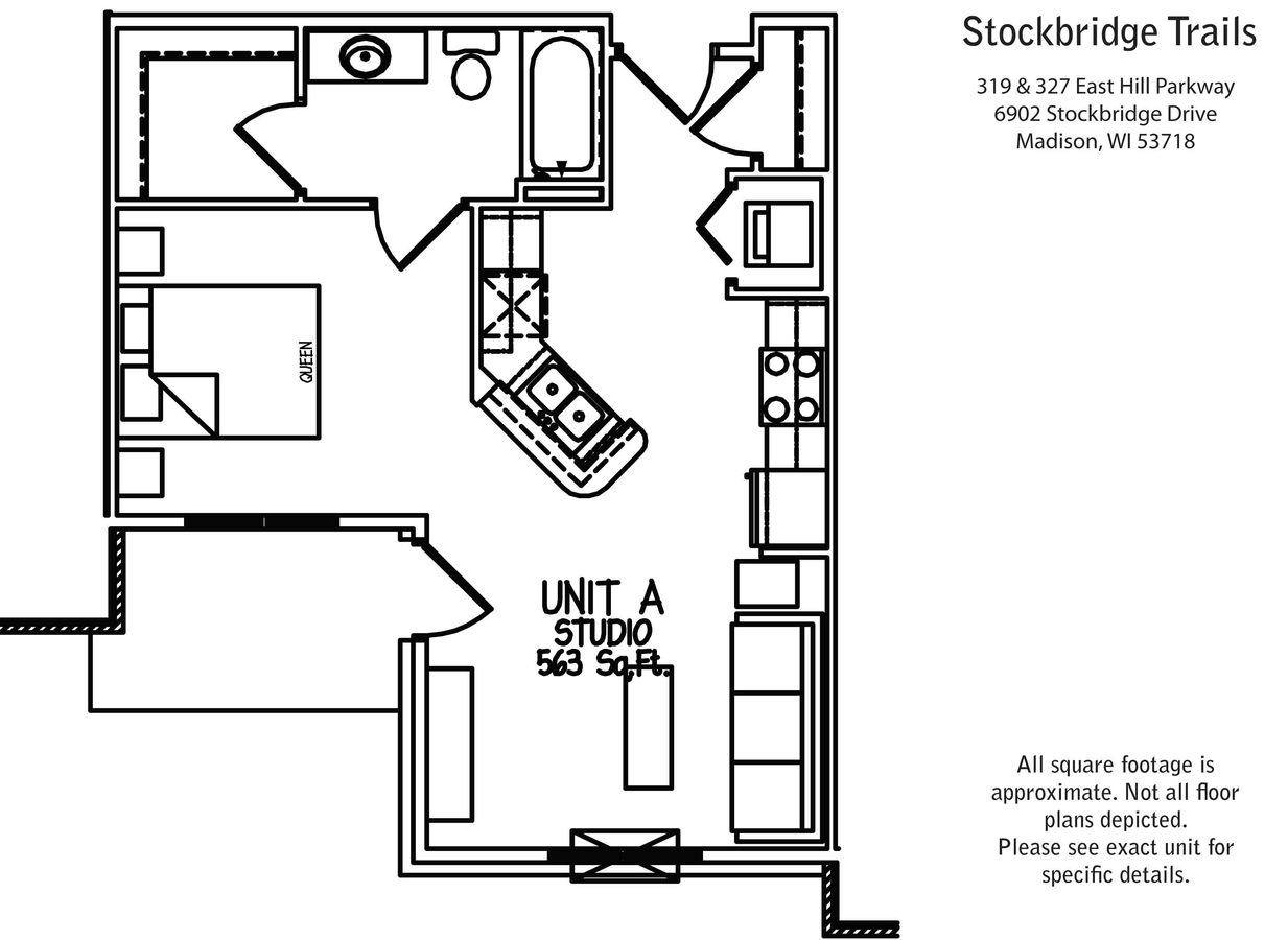 Studio 1 Bathroom Apartment for rent at Stockbridge Trails in Madison, WI