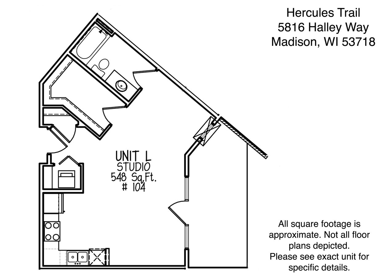 Studio 1 Bathroom Apartment for rent at Hercules Trail in Madison, WI