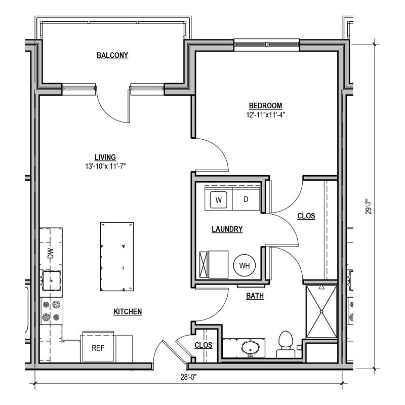 1 Bedroom 1 Bathroom Apartment for rent at Statesman in Franklin, WI