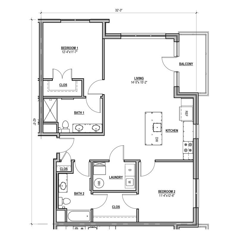 2 Bedrooms 2 Bathrooms Apartment for rent at Statesman in Franklin, WI