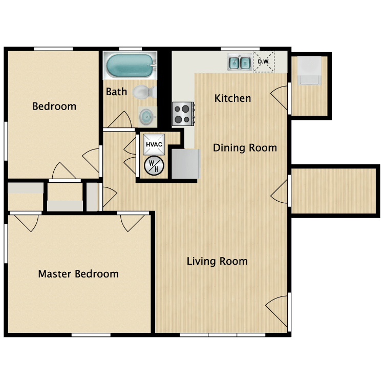2 Bedrooms 1 Bathroom Apartment for rent at The District in St Louis, MO