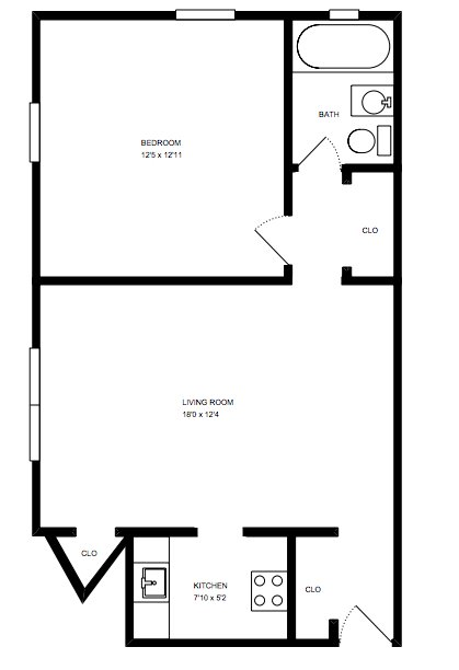 1 Bedroom 1 Bathroom Apartment for rent at Melwood Manor in Pittsburgh, PA