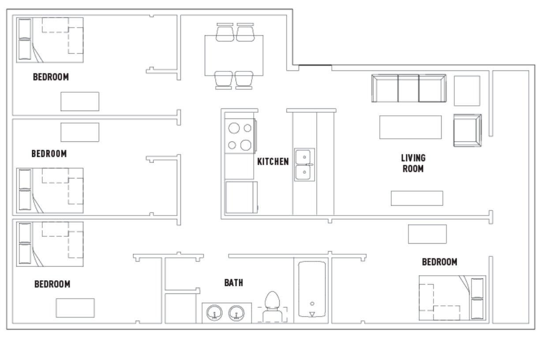 4 Bedrooms 1 Bathroom Apartment for rent at 311 E. Daniel St. in Champaign, IL