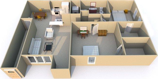 2 Bedrooms 1 Bathroom Apartment for rent at Retreat at Mesa Hills in El Paso, TX