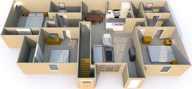 3 Bedrooms 2 Bathrooms Apartment for rent at Retreat at Mesa Hills in El Paso, TX