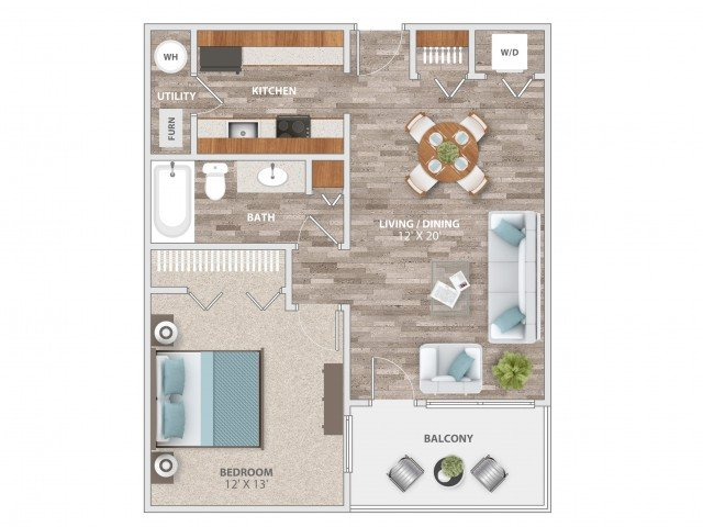 1 Bedroom 1 Bathroom Apartment for rent at Fieldpointe of St. Louis in St Louis, MO
