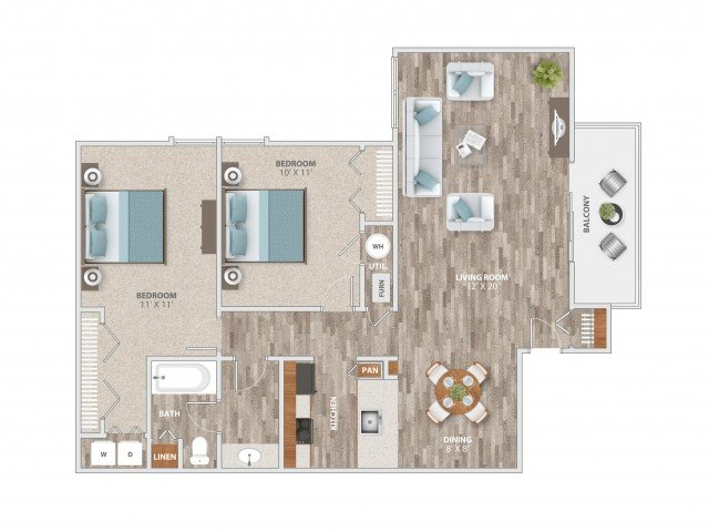 2 Bedrooms 1 Bathroom Apartment for rent at Fieldpointe of St. Louis in St Louis, MO