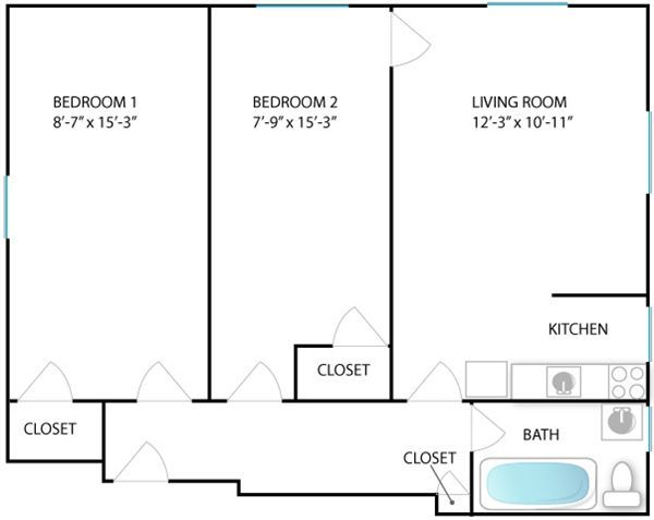 2 Bedrooms 1 Bathroom Apartment for rent at 414 S Division St in Ann Arbor, MI