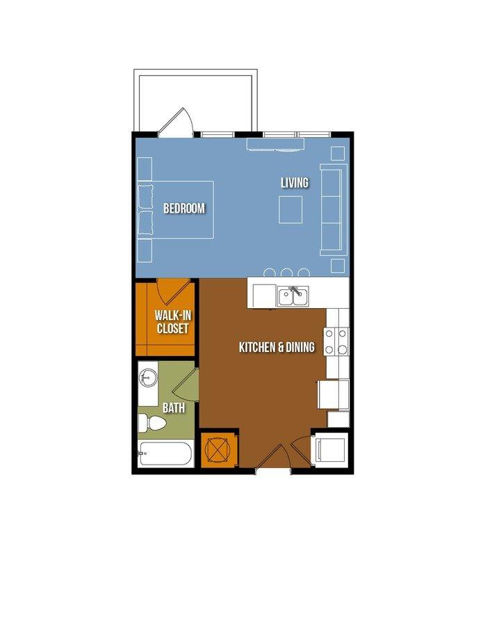 Studio 1 Bathroom Apartment for rent at Urban Crest Lake Jackson in Lake Jackson, TX