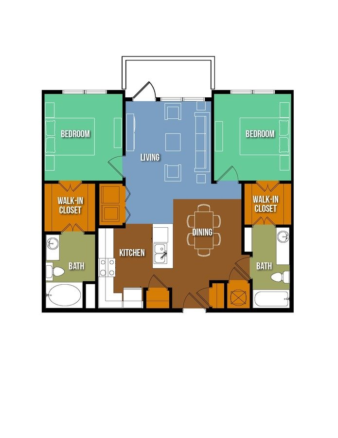 2 Bedrooms 2 Bathrooms Apartment for rent at Urban Crest Lake Jackson in Lake Jackson, TX