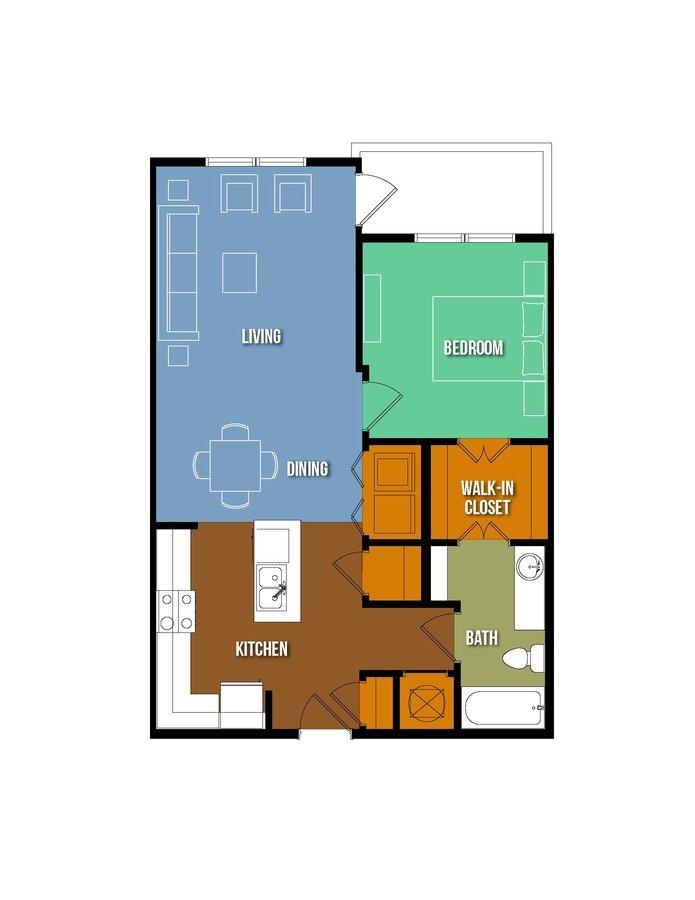 1 Bedroom 1 Bathroom Apartment for rent at Urban Crest Lake Jackson in Lake Jackson, TX