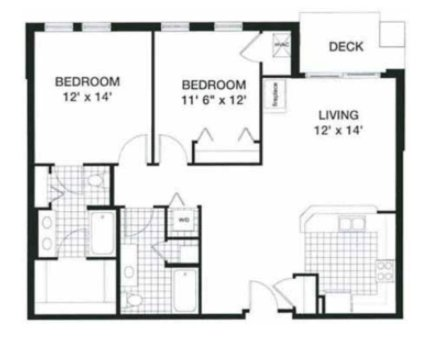 2 Bedrooms 2 Bathrooms Apartment for rent at Kennedy Place in Madison, WI
