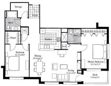 2 Bedrooms 2 Bathrooms Apartment for rent at City Gables in Madison, WI